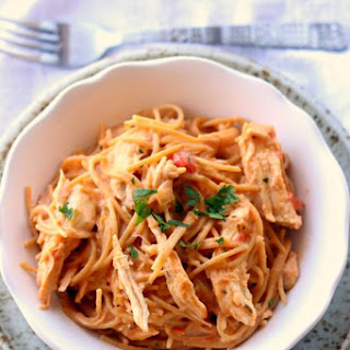 Slow Cooker Chicken Spaghetti.