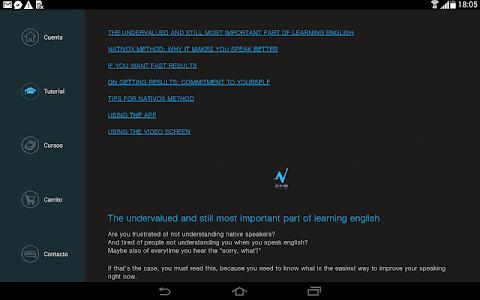 Nativox: your english tutor v1.8.4 (Unlocked)