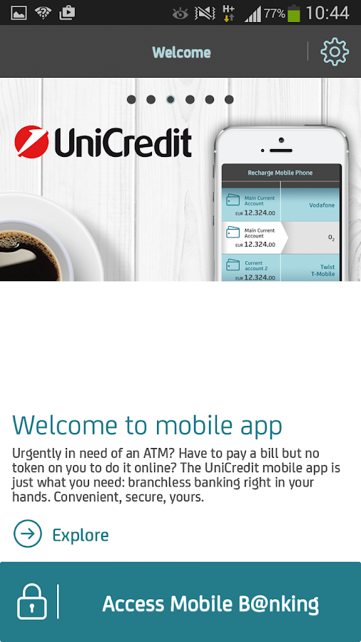 Mobile B@nking by Unicredit Ti - screenshot