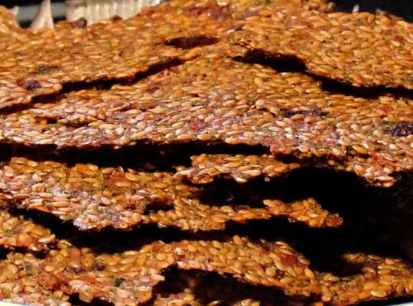 Raw Flax-tomato Crackers (dehydrated) Recipe