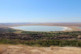Photo: Соленое озеро в Петровском районе. Справа виднеется кусочек синего водоема - там пресная вода. А соленая - именно такая, белесая