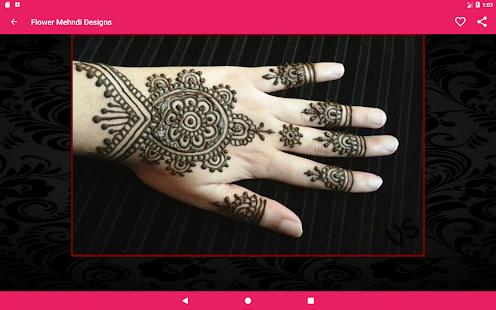 Flower Pattern Mehndi Designs : Girls mehndi designs kids and wedding