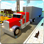 City Truck Duty Driver 3D Icon