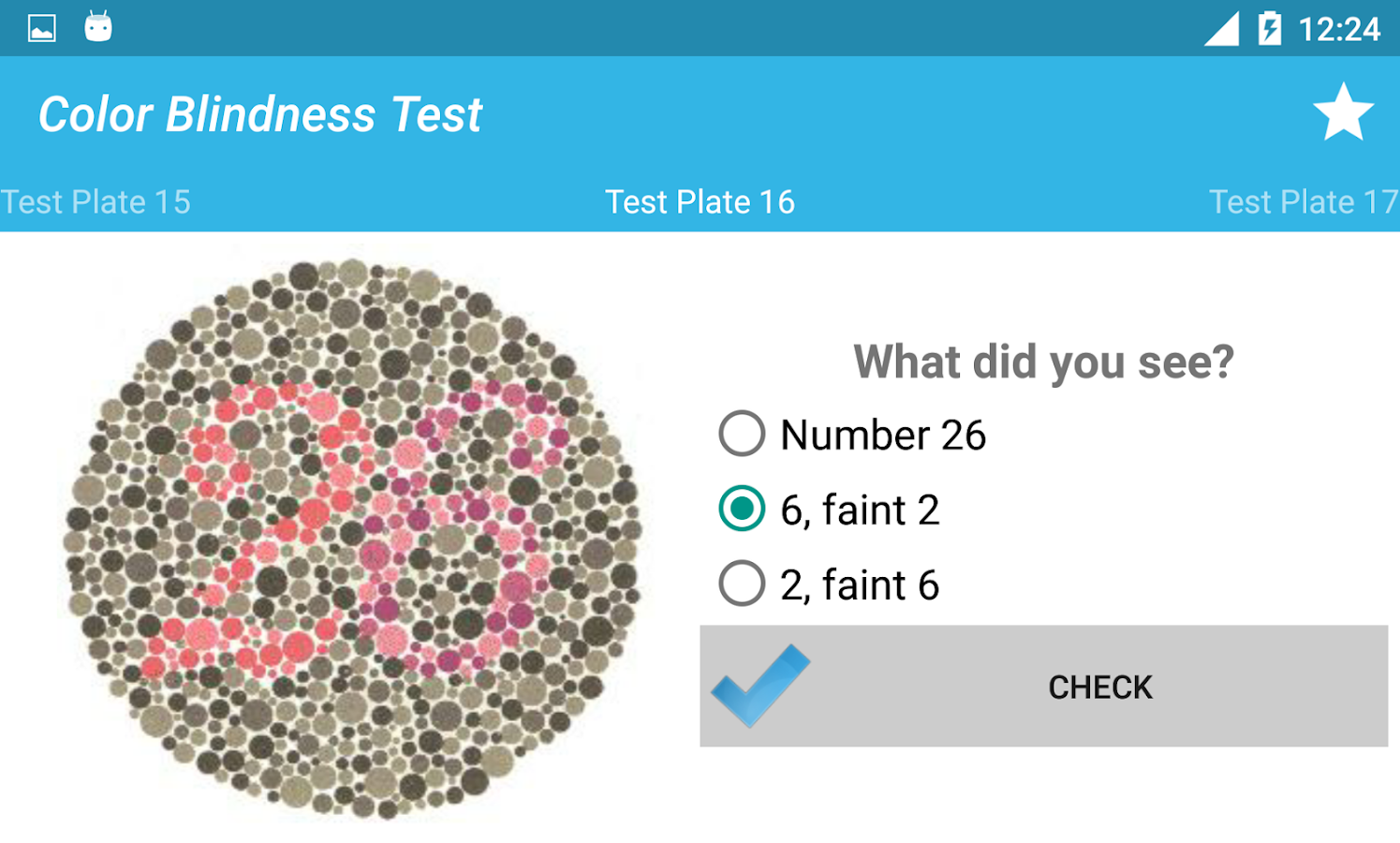 Book for color blindness - Color Blindness Test Screenshot