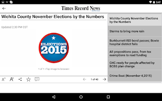 Screenshot of Times Record News