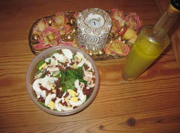 Spinach Salad and Dressing