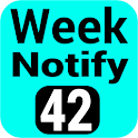 Week Number in status bar  icon