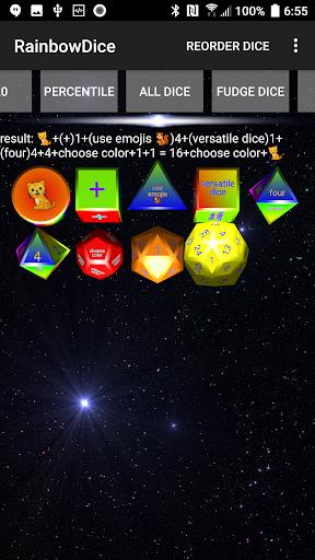 Dice Roller 3D: Rainbow Dice screenshots 2