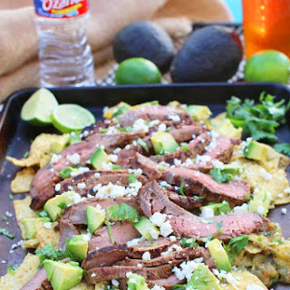 Dr. Pepper Marinated Flank Steak With Chilaquiles
