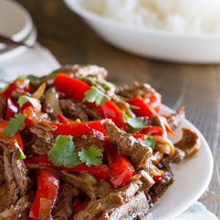 Steak Stir Fry Recipe with Peppers.