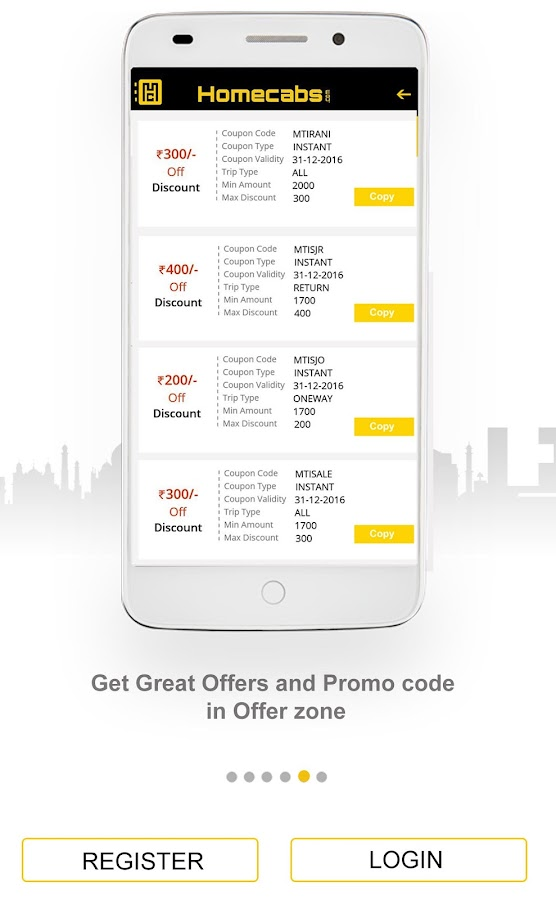 Home Cabs: Taxi Cab Service- screenshot