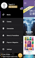 Screenshot of UA Cinemas – Mobile ticketing