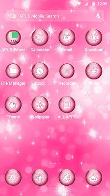 Pink Dream-APUS Launcher theme - screenshot