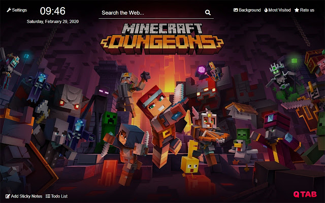 Minecraft Dungeons Wallpapers Hd For New Tab