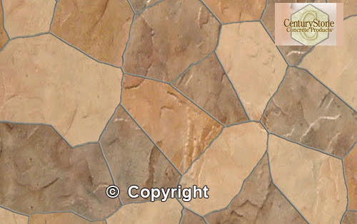 CenturyStone Decorative Concrete colors and textures for Deco-Con design software