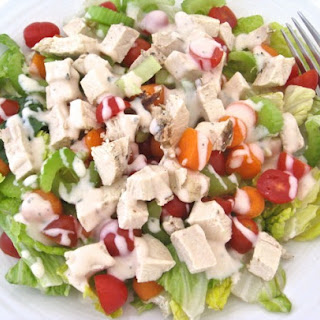 Low Calorie, Buffalo Ranch Chicken Salad