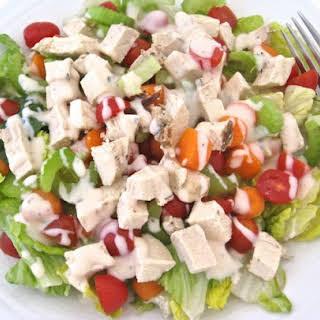 Low Calorie, Buffalo Ranch Chicken Salad.