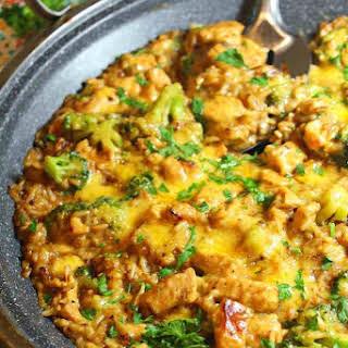 Cheesy Chicken Broccoli and Rice Casserole.