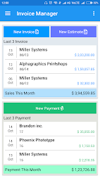 Simple Invoice Manager APK screenshot thumbnail 2