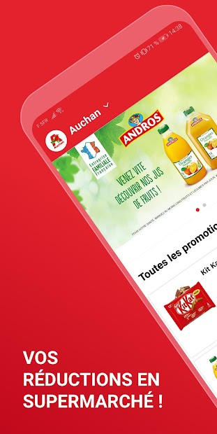iGraal Market : Cashback en supermarché Android App Screenshot