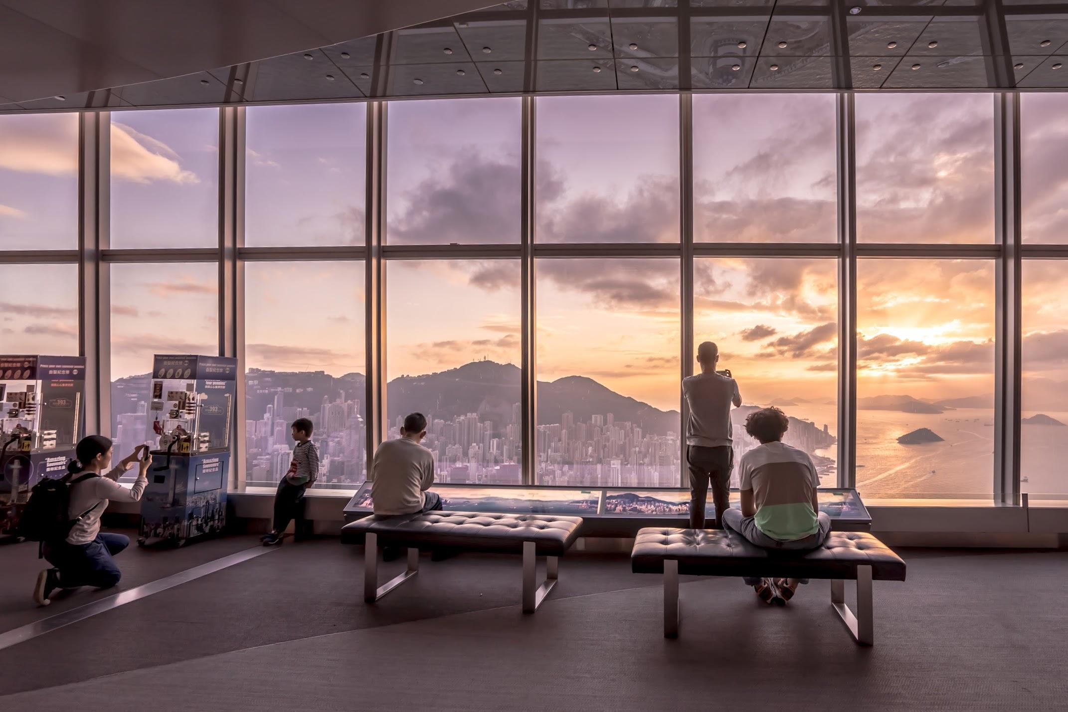 香港 スカイ100(sky100) 夕景2