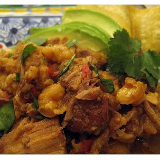 Pork Posole With Avocado, Cilantro and Lime