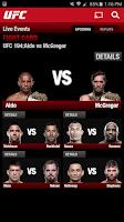 Screenshot of UFC.TV & UFC FIGHT PASS