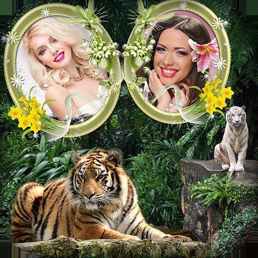 Tiger Dual Photo Frame