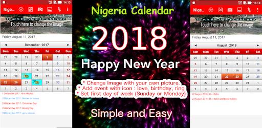 Calendar Nigeria : Download nigeria calendar for pc