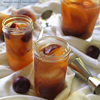 Peach and Plum Brandy Sangria.