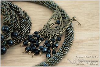 Photo: Fantasia with Bead Crochet Rope - Фантазія з в'язаним джгутом