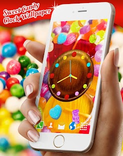 Sweet Candy Clock Live Wallpaper - náhled