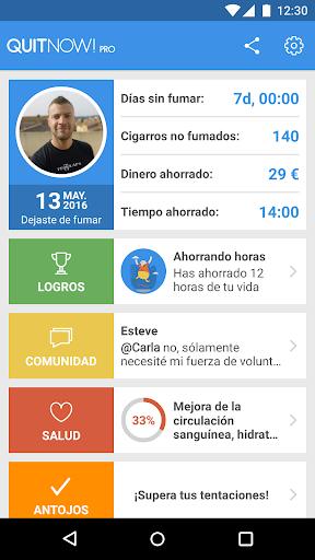 QuitNow! Pro - Dejar de fumar para Android