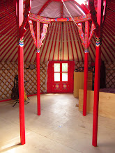 Photo: Moving some furniture into the yurt