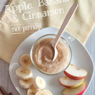 Apple, Banana and Cinnamon Rice Porridge