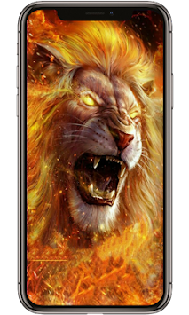 Download Roaring Fire Lion Lock Lock Screen Lion Wallpaper Apk