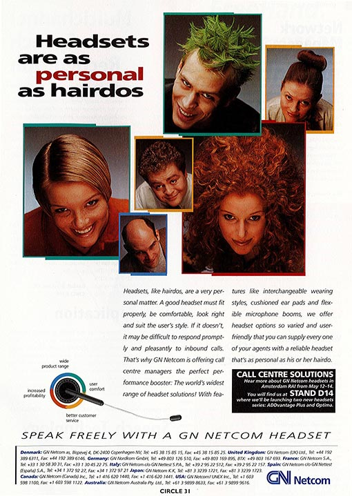 Take a look at how GN Netcom were advertising headsets in the 1990's (source: Jabra)