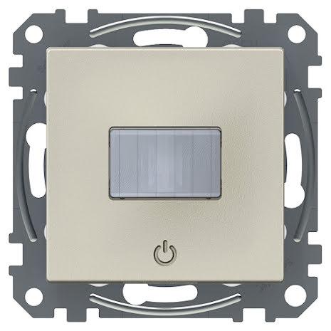Exxact Rörelsedetektor 10A med inbyggd tryckknapp metallic