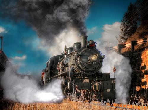 McCloud River Railroad 2-6-2 Prairie by Nickel Plate Photographics - Transportation Trains ( garibaldi, railroad, locomotive, train, steam )
