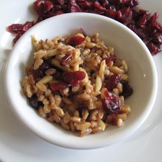 Cranberry Almond Farro Pilaf