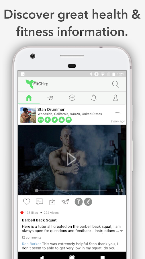 FitChirp - A Health Community- screenshot