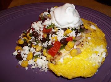 Bread Crumb Eggs W/black Bean  Corn Confetti Recipe