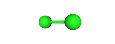 Molecular structure of Chlorine