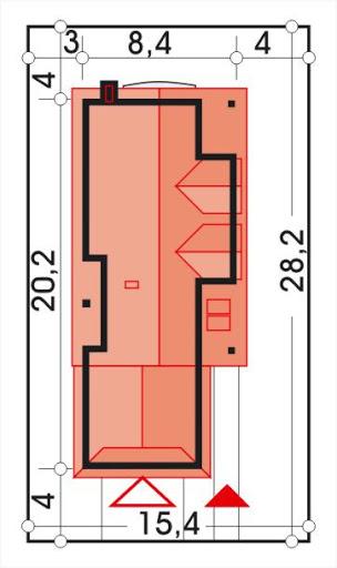 Alicja wersja A z podwójnym garażem - Sytuacja