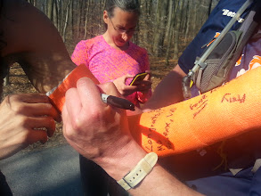 Photo: Everyone signed the cast.