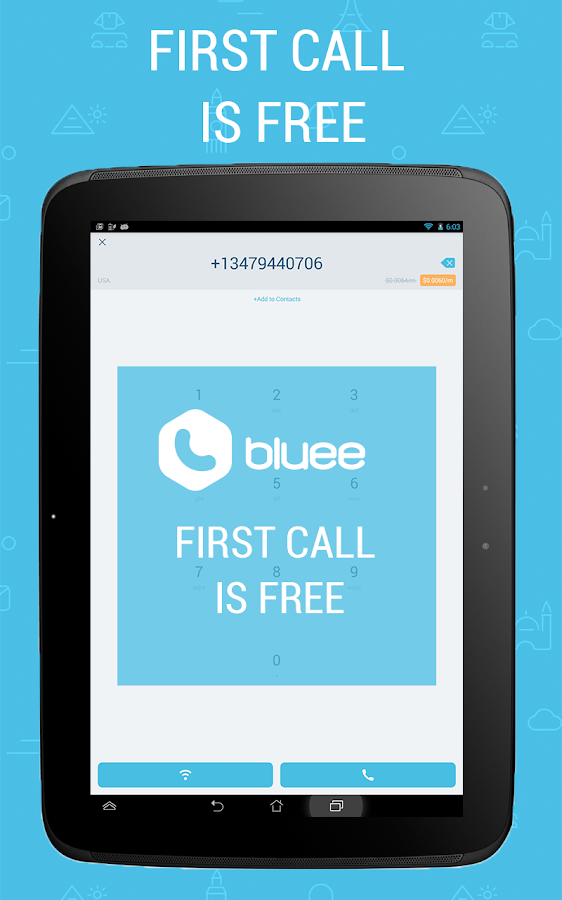 Bluee Free International Calls- screenshot