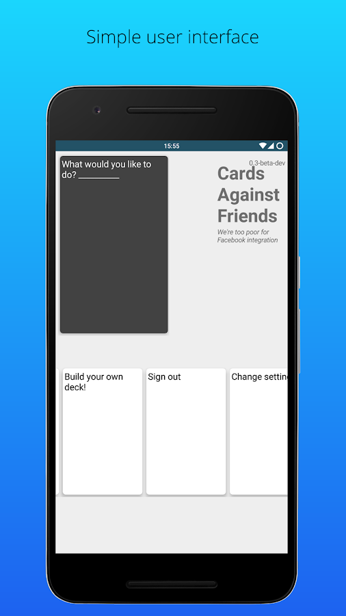 Cards Against Friends (Unreleased)- screenshot