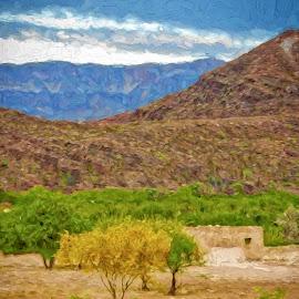 La Jitas by Allen Crenshaw - Digital Art Places ( big bend, color, rio grande valley, texas, art, digital art, ruins, spring desert, landscape, photography )