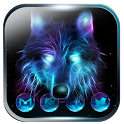 Ice Wolf Neon Launcher Theme 2018 icon