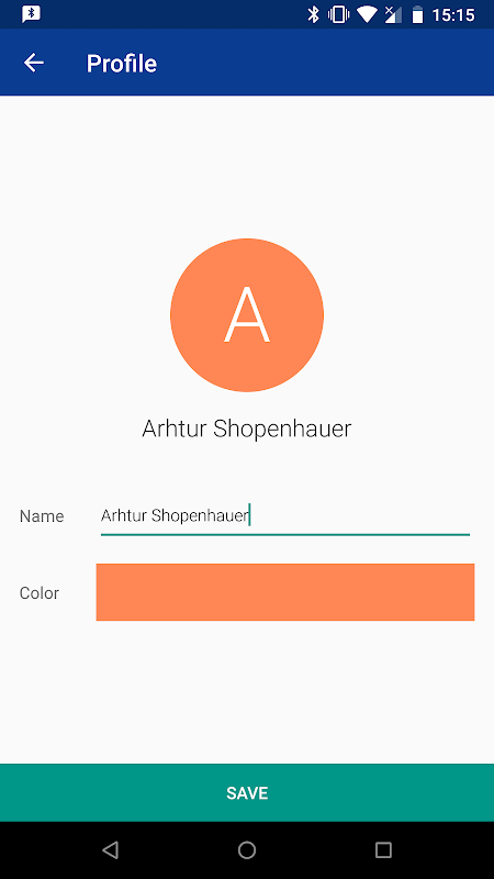 Bluetooth Chat screenshots